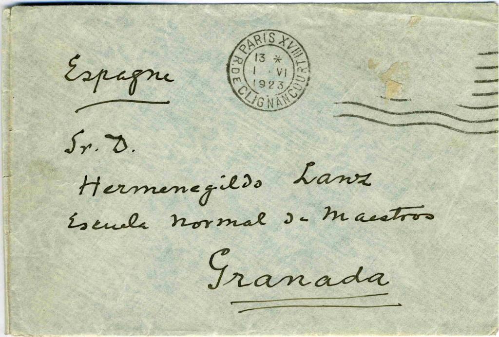 sobre carta Manuel de Falla- H. Lanz 01.06.1923