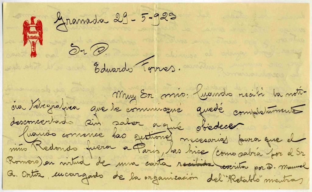 Carta HL a Torres