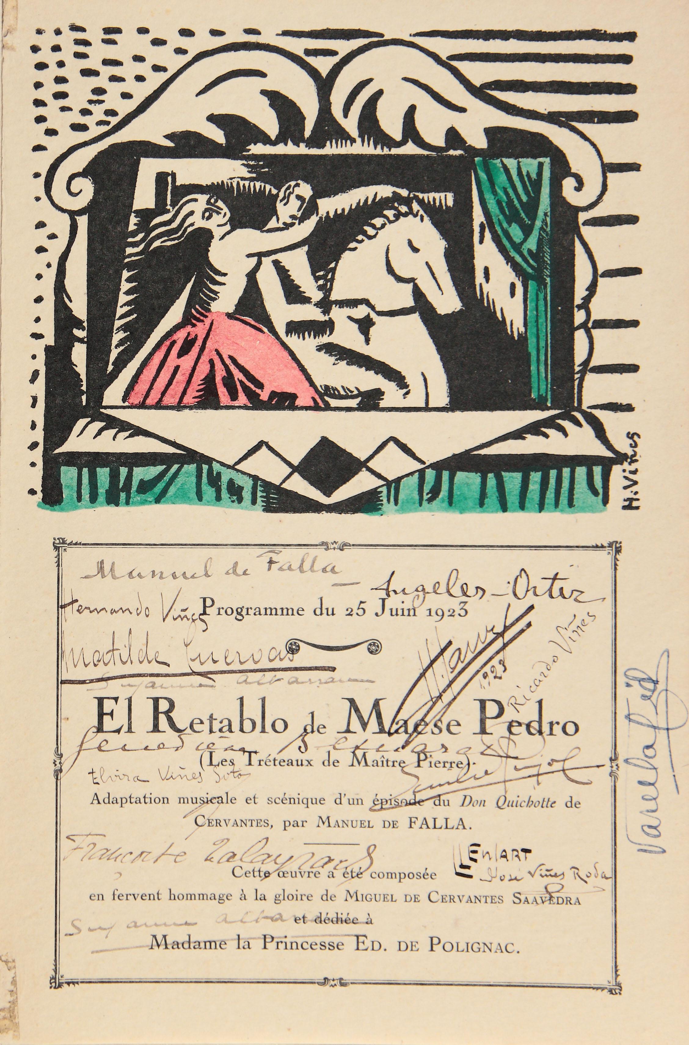 0: 90 aniversario de El retablo de maese Pedro, París 1923, Granada 2013